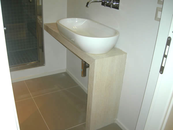 base per lavabo in rovere mobile