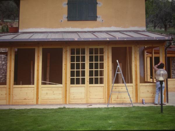 Verande per esterni firenze verande in legno firenze verande per terrazzi firenze - Verande da giardino in legno ...